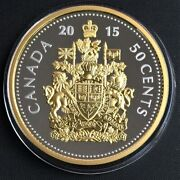 2015 Big Coin Series 50-cent Coin-5 Oz. Fine Silver Gold-plated Coin