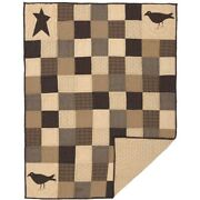 Primitive/farmhouse Quilted Kettle Grove Appliqué Crow And Star Throw Free Ship