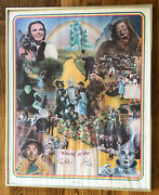 Wizard Of Oz Movie Poster Signed Numbered Ray Bolger Jack Haley Mgm Classic 1977