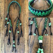 Custom Paracord Duck Goose Waterfowl Call Lanyard Black And Green With Skulls