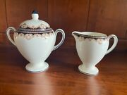 Wedgwood Medici Globe Sugar And Creamer Set With Lid Bone China Excellent