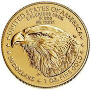 2021 American Gold Eagle 1 Oz Coin- Type 2 New Design