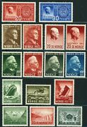 Norway Postage Stamp Collection Europe 1941-1944 Norge Mint Lh Nh
