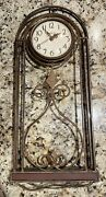 Howard Miller Gold/bronze Finish Wrought Iron Hanging Wall Clock - Discontinued