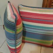 Set Of 2 Outdoor Waterproof Throw Pillows Patio Furniture Couch Multicolor 17x17
