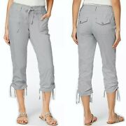 Macy's Inc Cropped Cargo Pants Regular Fit Gray Size 10 New 60