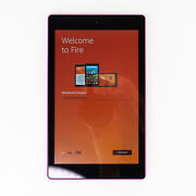 Kindle Fire Hd 8 6th Gen. Pr53dc 8 Tablet - 32gb - Pink With Case Euc