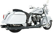 Indian Freedom Dual Exhaust System With 4in. Racing Muffler Black In00002