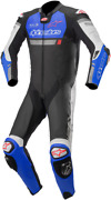 Alpinestars Missile Ignition One-piece Leather Suits 58 Black Blue White