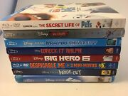 Animated Disney Pixar, Blu-ray / Dvd Lot Of 8 Monsters Up Inside Out Pets