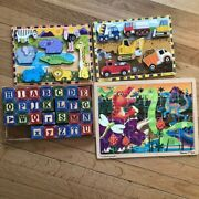 Melissa And Dougmelissa And Doug Wood Puzzle Setsgames And Puzzles/wooden Puzzl