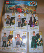 Harry Potter Wizarding World 6 Doll Set Ginny Ron And More + Lego Train Set