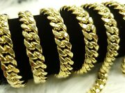 10k Yellow Genuine Gold 8mm Miami Cuban Link Chain Necklace Box Clasp New