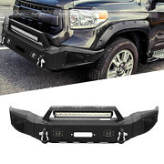 Tundra Front Bumper + Work Light Square Lights Fog Lamps For 07-13 Toyota Tundra