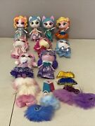 Kitten Catfe Purrista Dolls And Accessories- 9 Dolls Very Good Condition