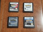 Nintendo Ds Pokemon Games Cartridges Only White Soul Silver Pearl And Black 2