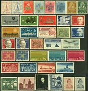 Norway Postage Stamp Collection Europe Norge Mint Nh Og