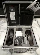 Vtg Conair Haircuts At Home 24-piece Kit Clippers Silver Storage Case And Vhs Tape