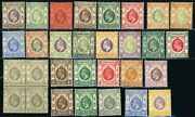 Hong Kong Postage Stamp Collection British Commonwealth 1903-1937 Mint Lh