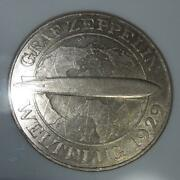 1930 A Zeppelin Large Silver Coin Commemorating The Round-the-world Flight