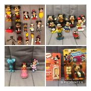 Lot Of Vintage Mickey Mouse And Minnie Figurines Figures Walt Disney Production