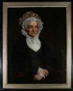 Large Framed 19th Century Oil - Portrait Of A Lady