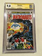 Micronauts 8 Cgc Ss 9.8 Signed By Michael Golden 1st App Of Captain Universe