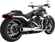 Vance And Hines Hi-output 2-into-1 Short Exhaust Systems Chrome 16545