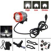 Super Brght Led Bicycle Lamp Headlight Cycling Head Torch Bike Front Rear Light