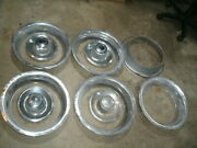 1969-1982 Chevrolet Corvette Rally Center Hubcaps And Trim Rings Lot