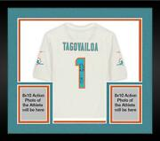 Frmd Tua Tagovailoa Miami Dolphins Signed White Game Jersey And Inscs - 10/10