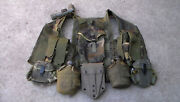 Us Army Vest, Tactical, Load Baring Belt Suspender Set And Canteens And Shovel Used
