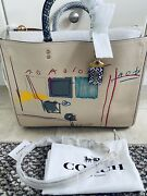 Nwt Coach X Ivory Jean-michel Basquiat 39 With Snakeskin Details 6877