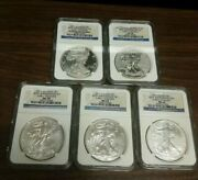 2011 American Silver Eagle 25th Anniversary Set - Ngc Ms69 Pf69 - Early Releases
