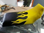 Yamaha Banshee Seat Cover Yellow Flame Black Color Seat Cover