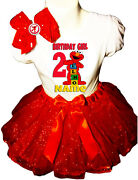 Elmo Shirt Name Birthday Party 2nd 2 Personalized Red Tutu Dress