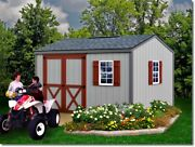 Best Barns Cypress Woodshed Kit - 10and039x12and039 10and039x16and039 Opt. Floor/no Floor