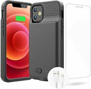 Battery Case For Iphone 12 12pro Real 7000mah Ultra Slim Battery Charging Case R