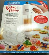 Bonjour Cookie Factory Decorating Kit 38 Piece Battery Operated New In Box Flaw