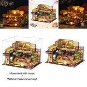 Wooden Japanese Style Doll House With Furniture Kits Puzzles For Girls