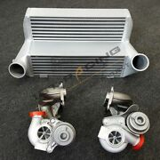 7.5 Stepped Race Intercooler+17t Turbos Fit Bmw N54 E90-93 335xi 335i E92 335is