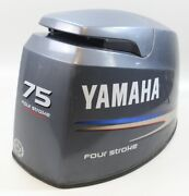 6d6-42610-00-4d Yamaha 2005 And Up Top Cowling Engine Cover Hood 75 Hp 4 Stroke