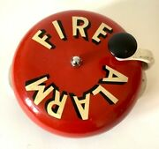 Large Vintage American Fire House / Station Hand Cranked Fire Alarm 36 Cm Wide.