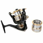 Fishing Reel Spinning Max Drag 6kg 9 Balls Bearing One Spare Spool High Quality