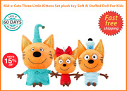 Kid-e-cats Three Little Kittens Set Plush Toy Soft And Stuffed Doll For Kids Gift