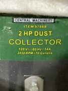 Central Machinery 2hp Dust Collector 97869 With Operating Manual
