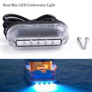 1pc Marine Boat Underwater Led Blue Light Clear Pc Waterproof Surface Mount 12v