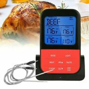 Digital Grill Thermometer Meat Thermometer Bbq Measuring Tools Wireless 2 Probes