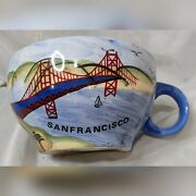 San Francisco Golden Gate Hand Painted Coffee Cup Mug By Susan S