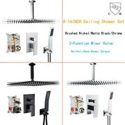 Shower Faucet Set Rainfall Shower Head Combo Kit System Ceiling With Mixer Valve
